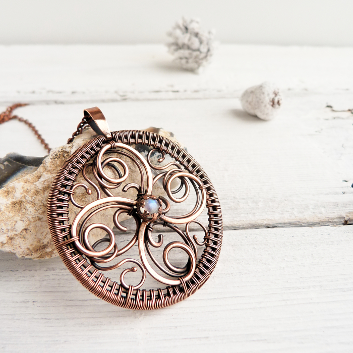 Circle Of Life In Wire Jewelry