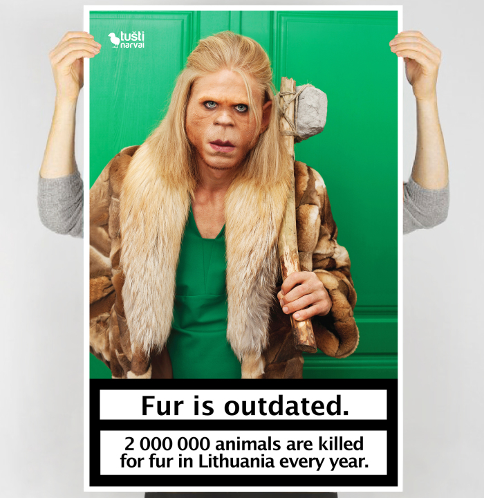 Totally Unexpected Anti-Fur Posters Show How Outdated And Out-Of-Fashion Natural Fur Is