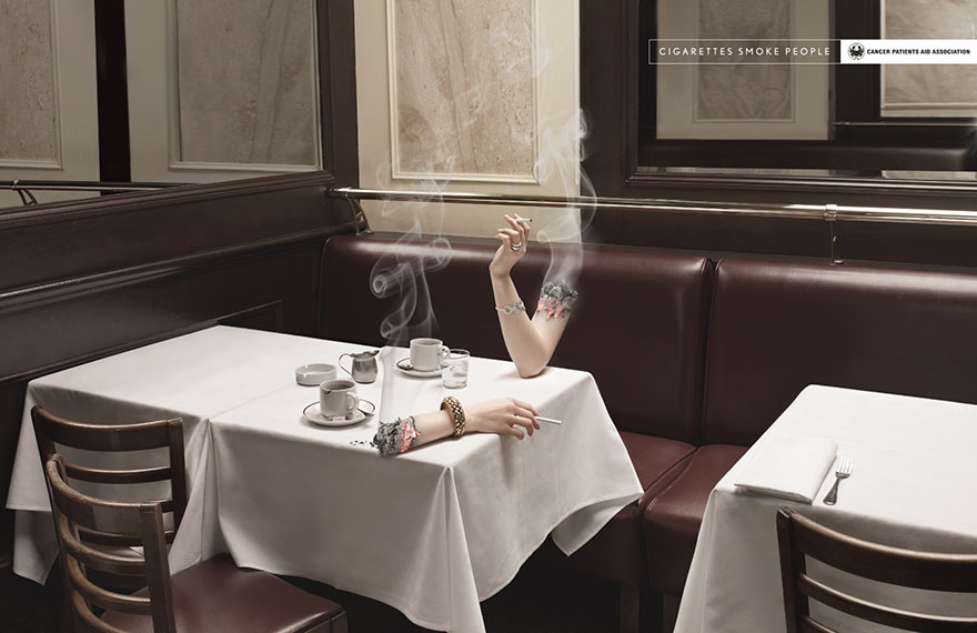 Cigarettes smoke people