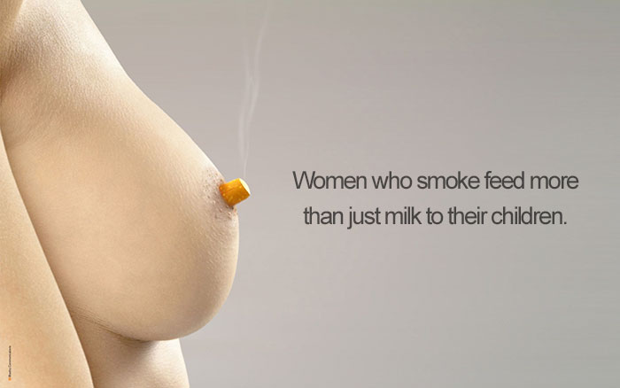 Women Who Smoke Feed More Than Just Milk To Their Children