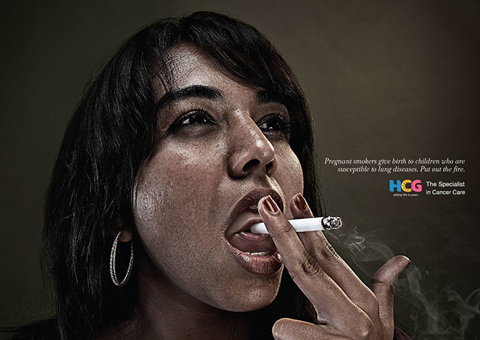 Pregnant Smokers Give Birth To Children Who Are Susceptible To Lung Diseases. Put Out The Fire