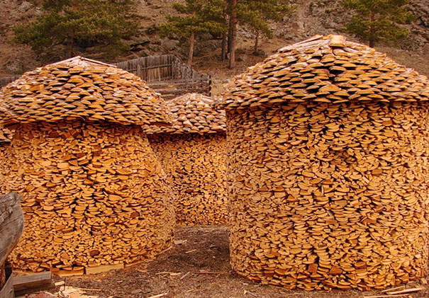Creative Log Piles