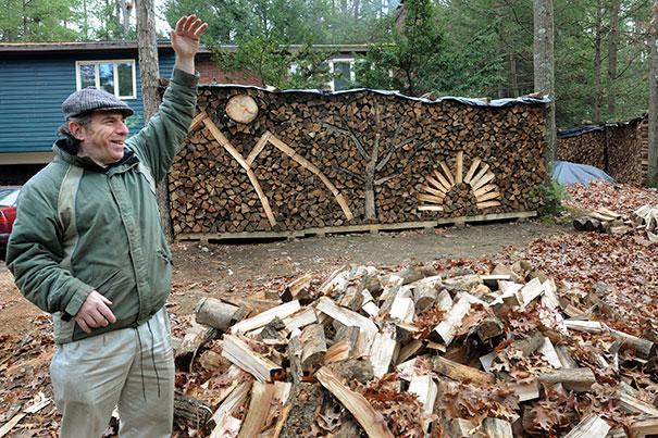 Creative Pile Of Firewood