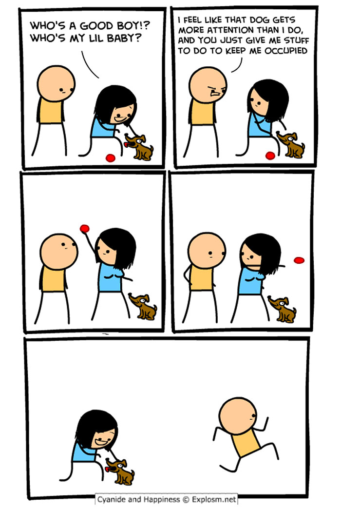 Cyanide comic strip and