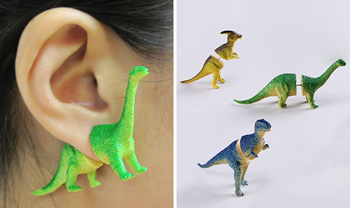 Dinosaur Earrings For A Modern Caveman