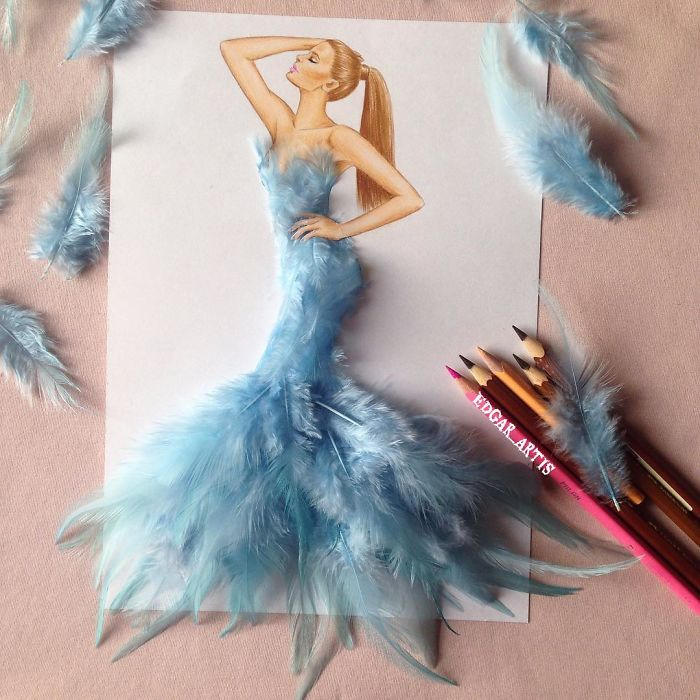 Armenian Fashion Illustrator Creates Stunning Dresses From Everyday Objects 70 Pics Bored Panda