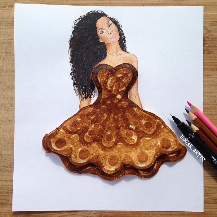 armenian fashion illustrator creates stunning dresses from