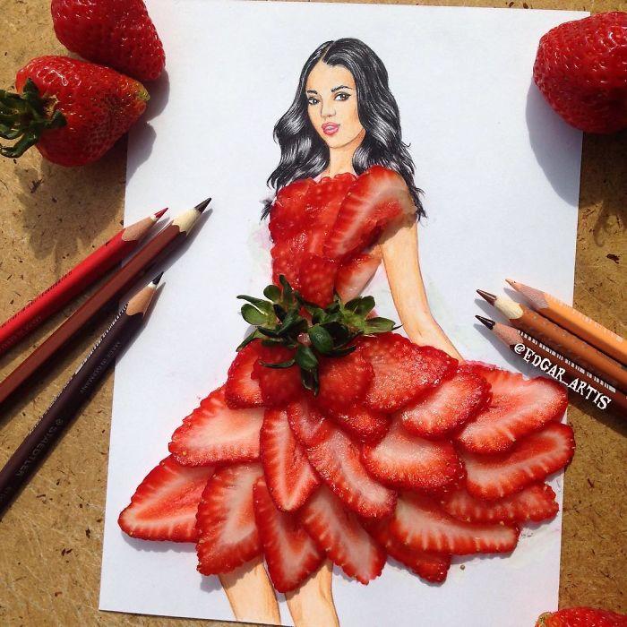 Armenian Fashion Illustrator Creates Stunning Dresses From Everyday Objects (10+ Pics)