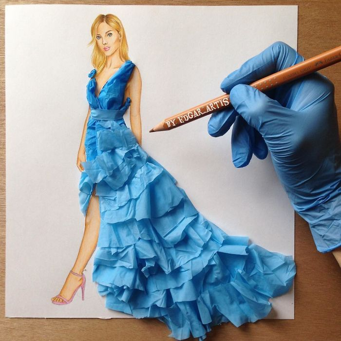 Armenian Fashion Illustrator Creates Stunning Dresses From Everyday Objects (10+ Pics)