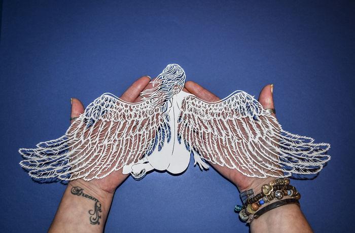 I Hand Cut Delicate Figurative Paper Art