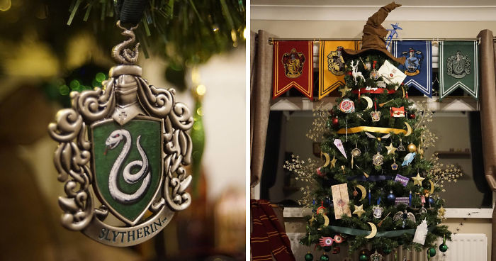 Harry Potter Christmas.This Harry Potter Themed Christmas Tree Is A Feast For