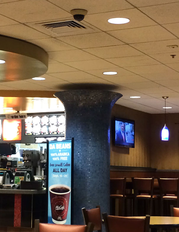 This Mcdonalds Column Doesn't Touch The Ceiling