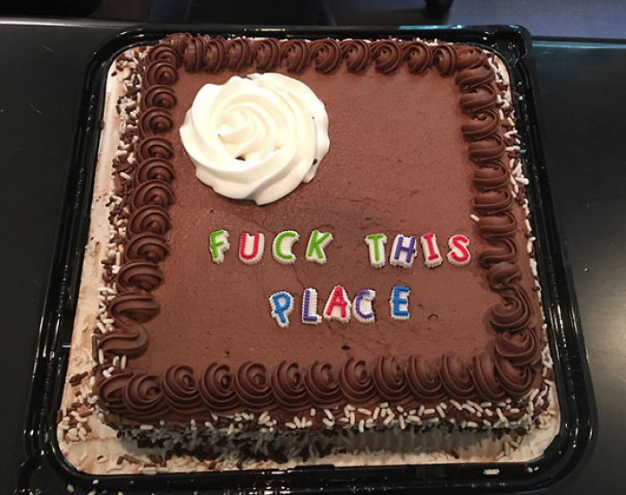Got Laid Off - My Work Friends Nailed My Going Away Cake