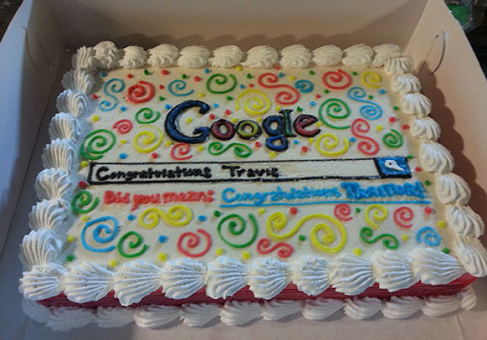 A Friend At Work Got A Job With Bing.com, So I Got Him A Google Ice Cream Cake For His Last Day. Congratulation Traitor