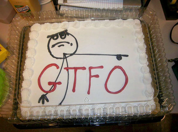 Coworker Got A Better Job...We Bought Him A Cake On His Last Day