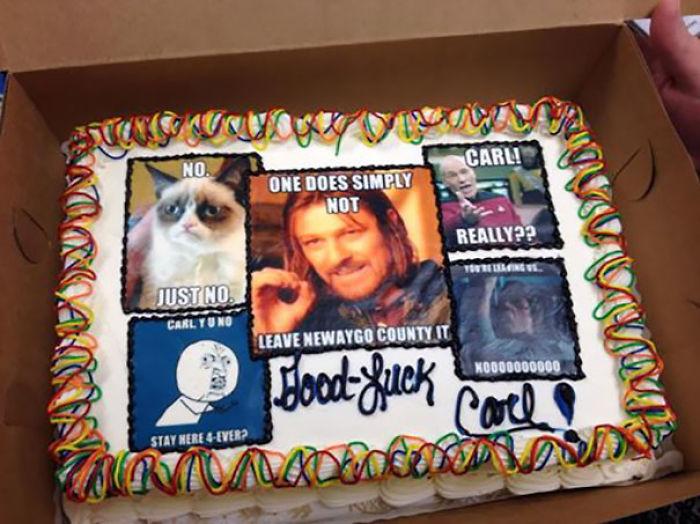 IT Boss Farewell Cake