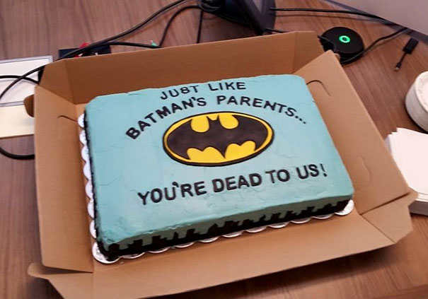 Batman Farewell Cake We Gave A Former Co-Worker