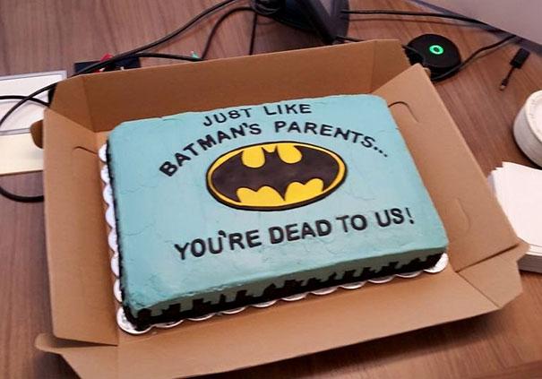 Batman Farewell Cake We Gave A Former Co-Worker