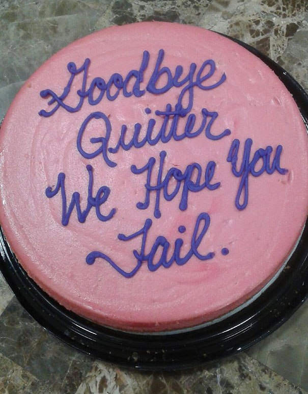 Mother-in-law Left Her Job For A Better One. This Was Her Farewell Cake