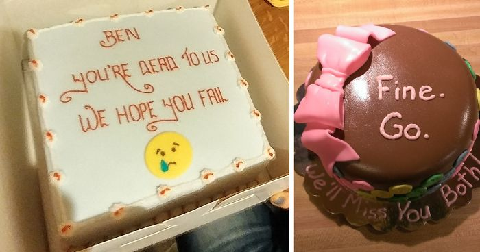 15 Hilarious Farewell Cakes That Employees Got On Their