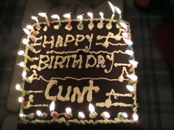 It Was My Cousin Clint's Birthday, And His Mother-in-law Reminds Us All About The Importance Of Kerning.