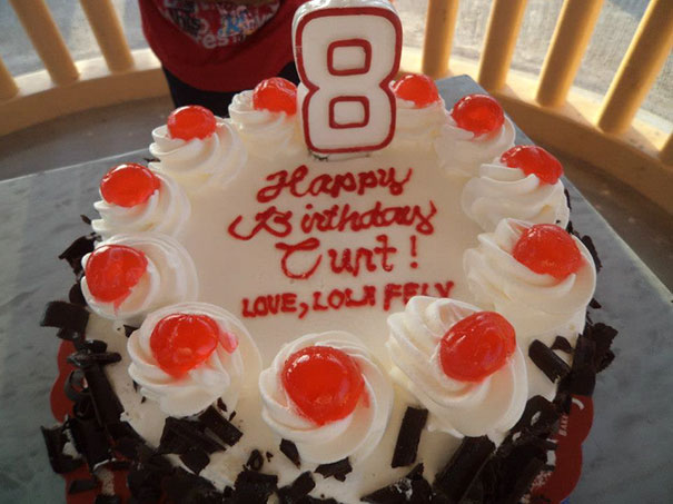 My Aunt In The Philippines Made A Nice Birthday Cake For My Relative Curt