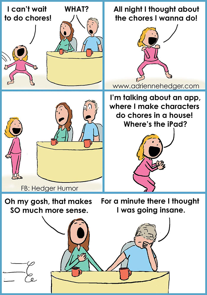 comics parenting hedger humor cartoons funny mom hilarious married bored sum boredpanda