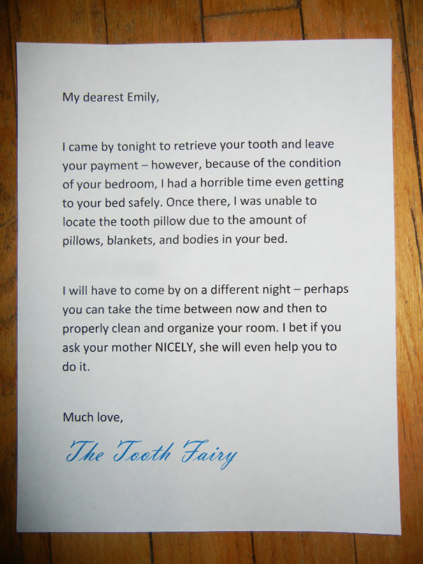 Fake Tooth Fairy Letter
