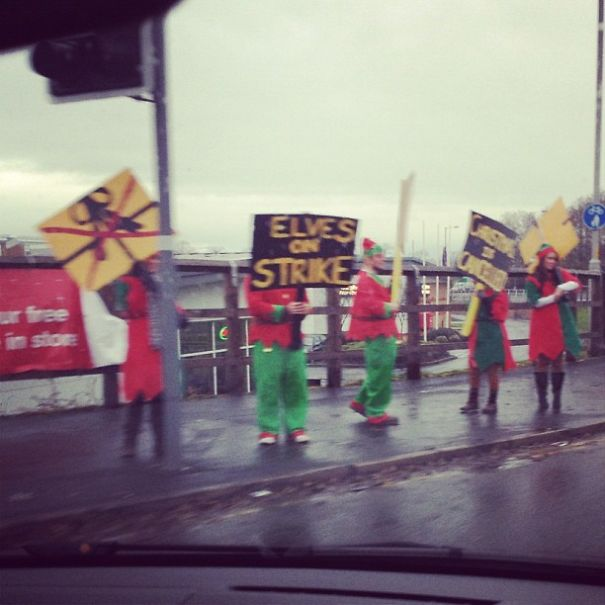 Protesting Elves