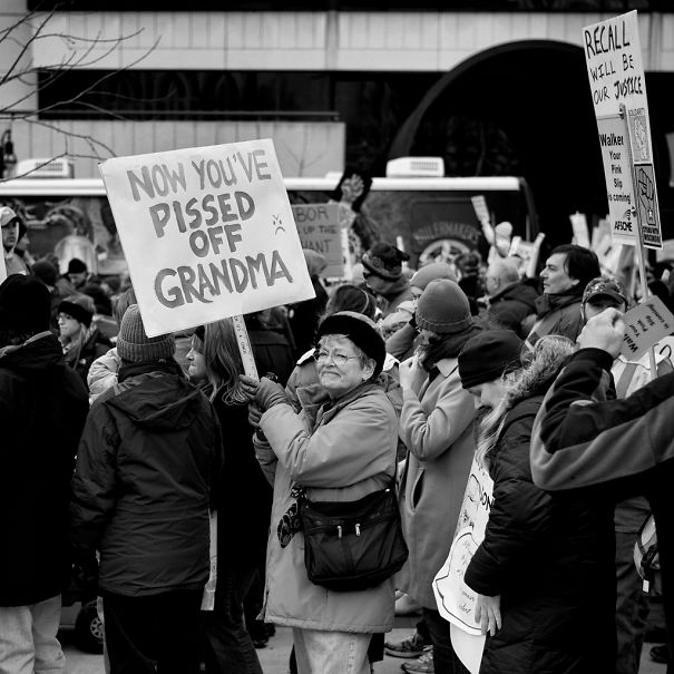 Protest Rally Against Scott Walker And The Republicans