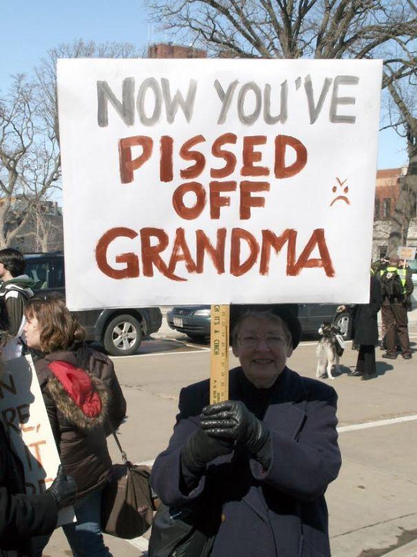 Protesting Grandma