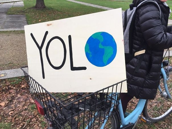 Sign From Last Weekend's International March To Stop Climate Change