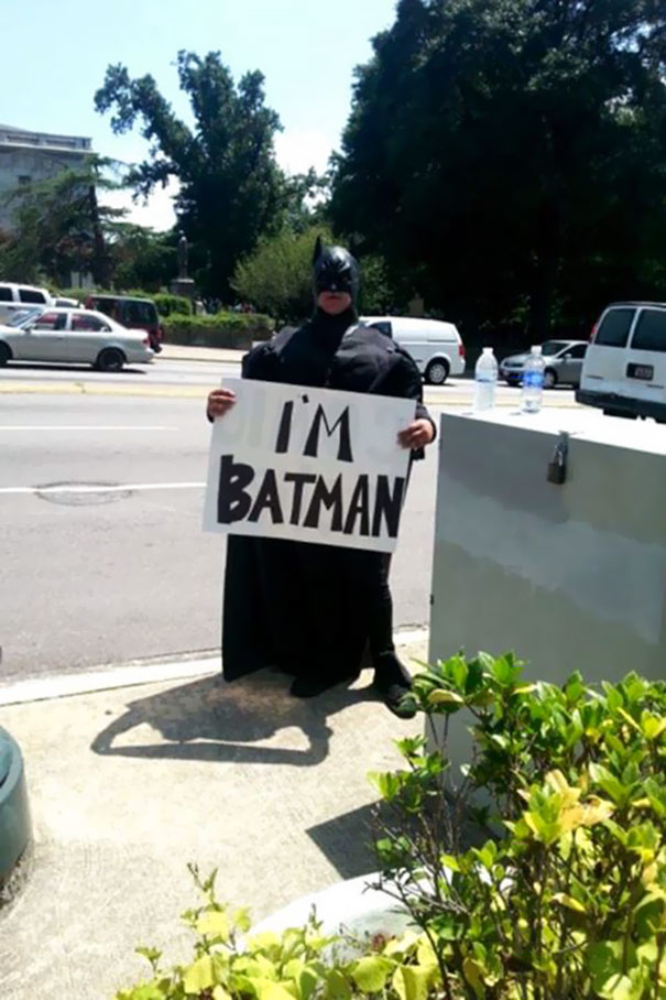 The Best Protest Sign At The Columbia SC KKK Event