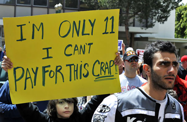 Protesting Kid