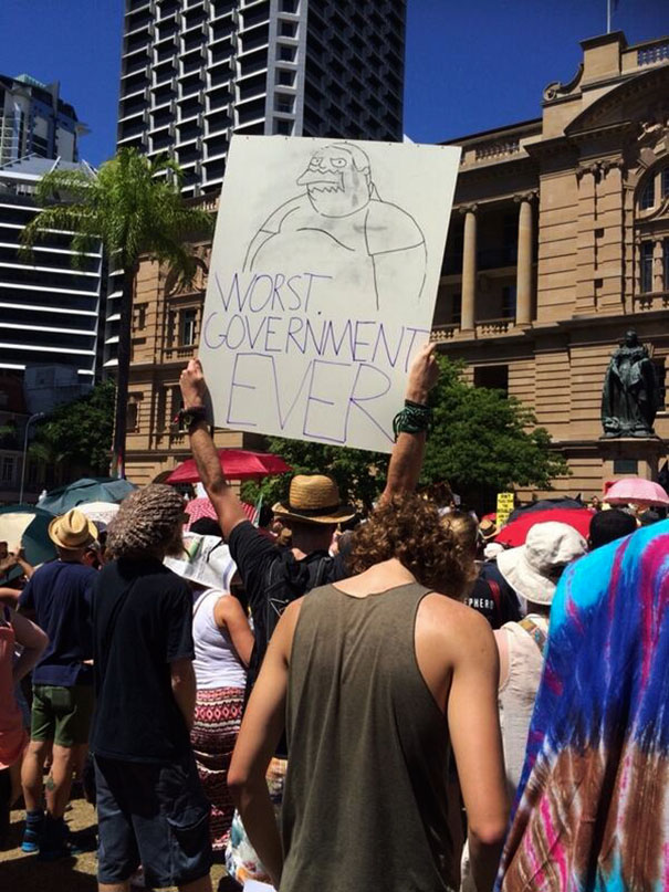 Another Australian Protest Sign