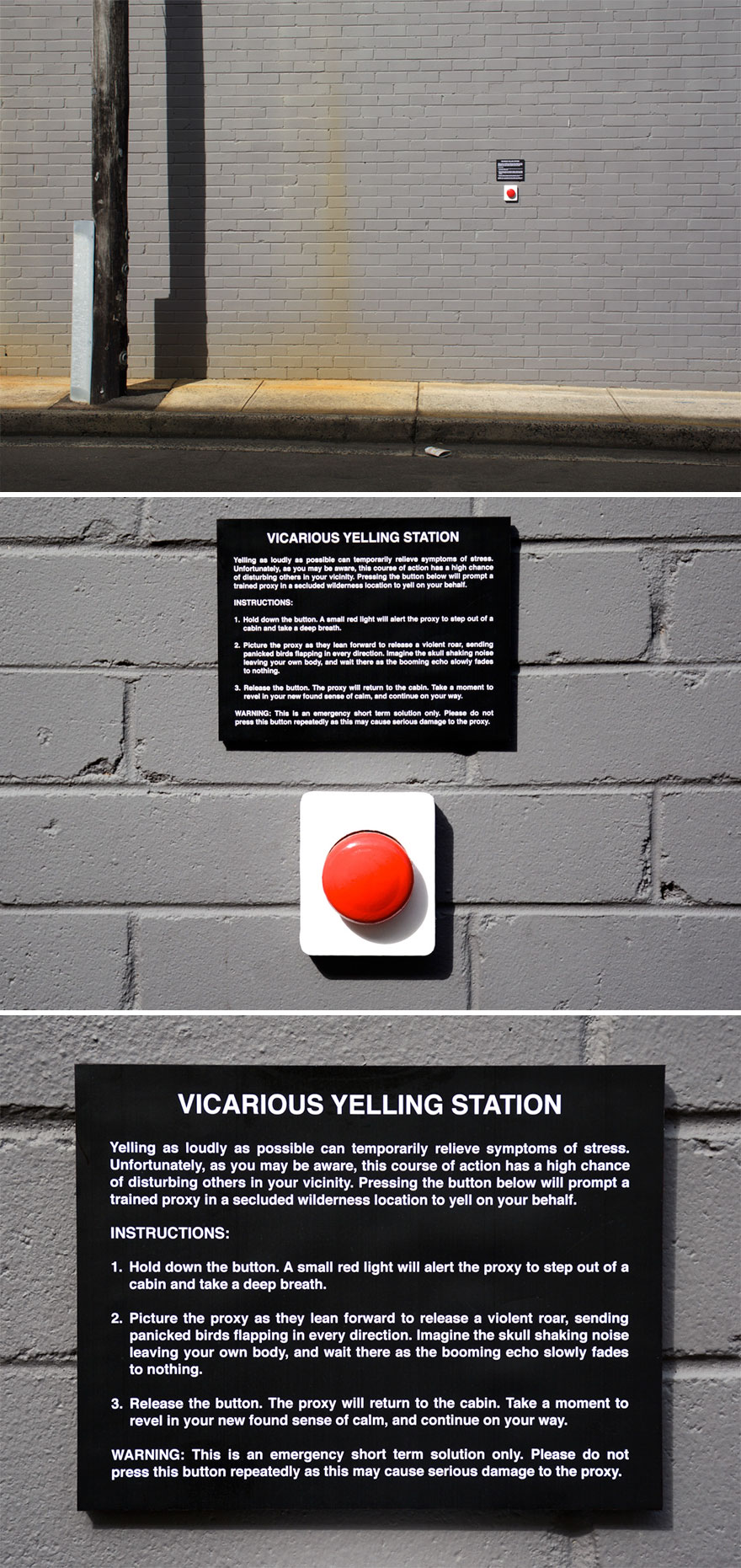 Vicarious Yelling Station