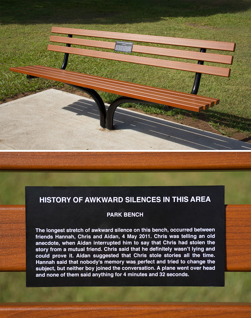 Park Bench Plaque