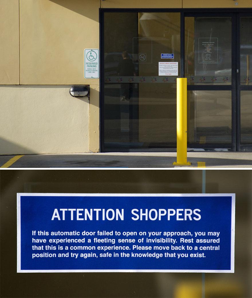 Automatic Door Sign