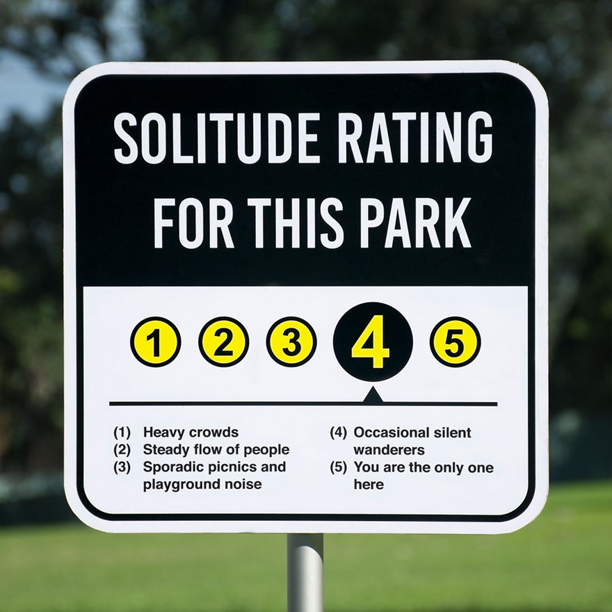 Solitude Rating Sign