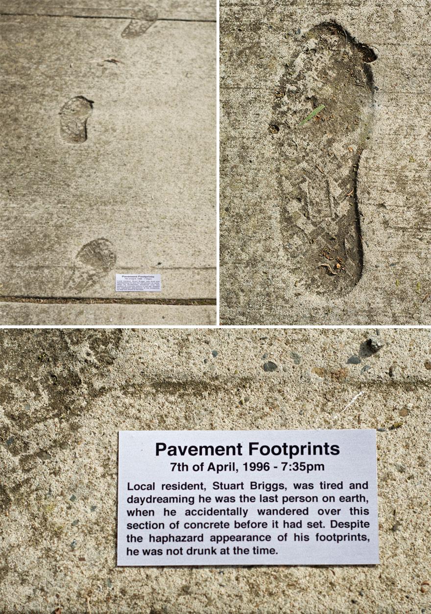 Pavement Plaque