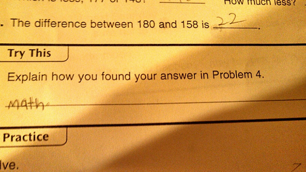 My Son, The Consummate Smart-Ass. I Think Third Grade Math Is Boring Him