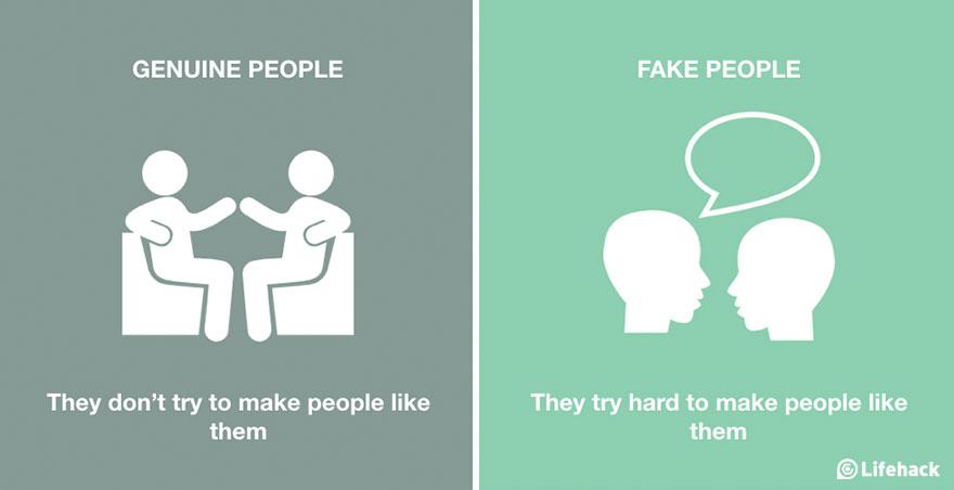 Genuine People Vs. Fake People