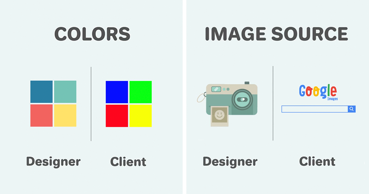 11 differences between designers and clients show why they will 11 differences between designers and clients show why they will never understand each other bored panda ccuart Gallery