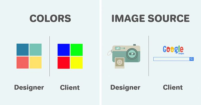 Differences Between Designers And Clients Show Why They Will - Funny illustrations show the love hate relationship between designers
