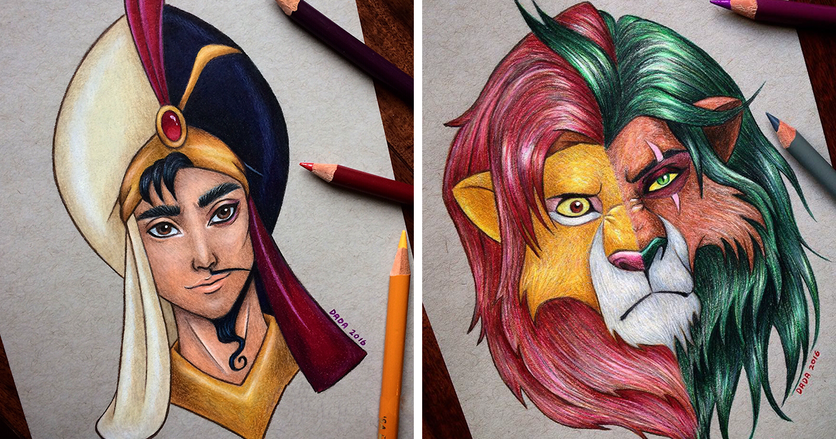 This Artist Merges Disney Heroes With Villains Bored Panda