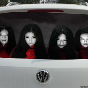 Drivers Are Using Terrifying Reflective Decals On Rear Windows To Fight Against High-Beam Users