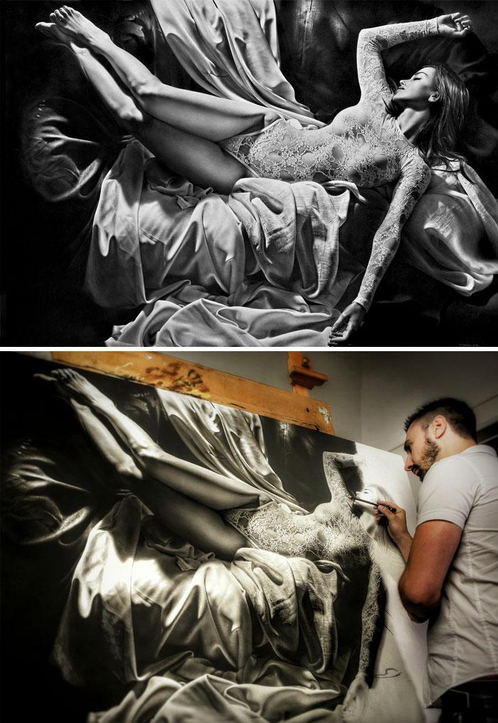 De carbón y grafito Dibujo Por Emanuele Dascanio