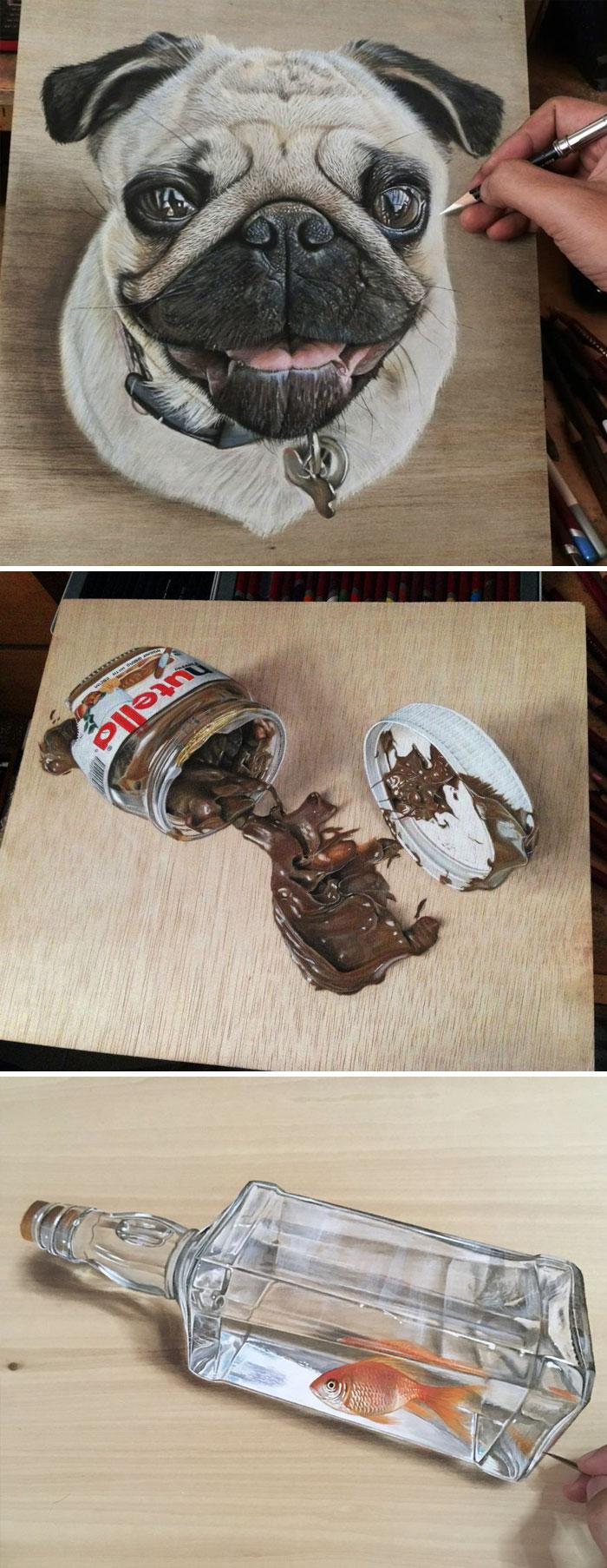 Las pinturas en Junta de la madera por Ivan Hoo