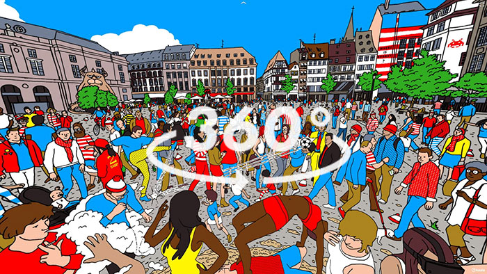 Can You Find Waldo In My 360° Illustration?