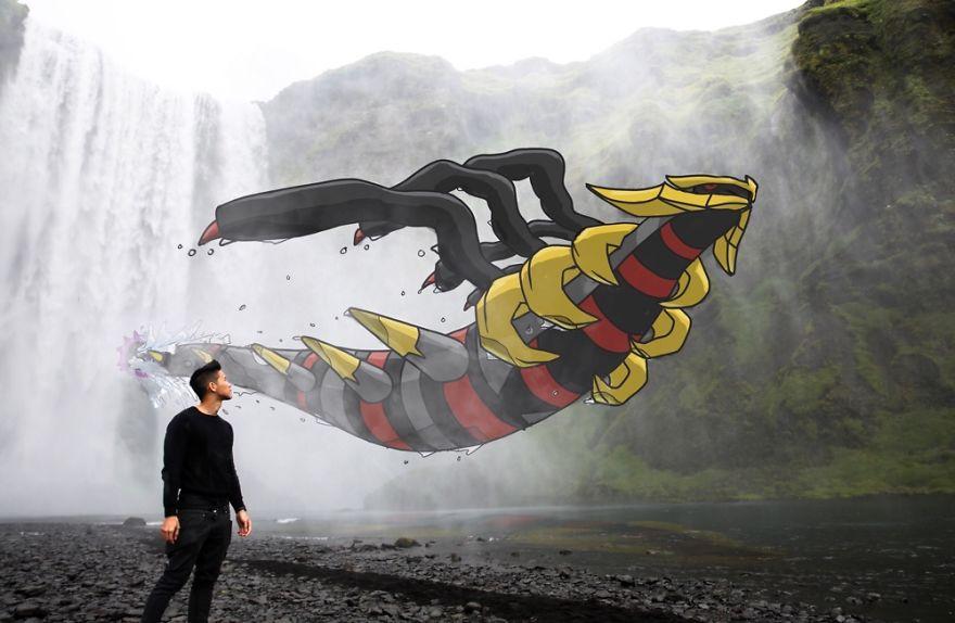I Drew Pokemon Onto My Vacation Pics